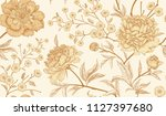 floral vintage seamless pattern ... | Shutterstock .eps vector #1127397680