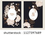 templates of wedding... | Shutterstock .eps vector #1127397689