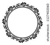decorative frame. elegant... | Shutterstock .eps vector #1127402060