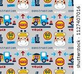 seamless pattern animal... | Shutterstock .eps vector #1127407016