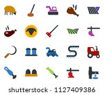 colored vector icon set   field ... | Shutterstock .eps vector #1127409386
