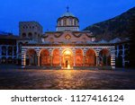 beautiful view of the orthodox... | Shutterstock . vector #1127416124