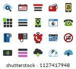 colored vector icon set   phone ...