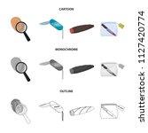 a fingerprint study  a folding... | Shutterstock .eps vector #1127420774