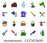 colored vector icon set  ... | Shutterstock .eps vector #1127423690
