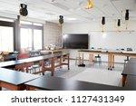 robotic vehicle on desk in... | Shutterstock . vector #1127431349
