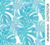 tropical pattern. seamless... | Shutterstock .eps vector #1127431718