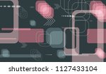 tech pattern. colorful... | Shutterstock .eps vector #1127433104