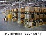 forklift loader worker driver... | Shutterstock . vector #112743544