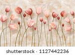 delicate background with tulips   Shutterstock . vector #1127442236