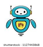 forex trading robot. stock...   Shutterstock .eps vector #1127443868