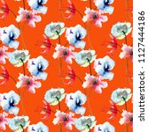 seamless pattern with stylized...   Shutterstock . vector #1127444186