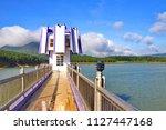 landscape at tuyen lam lake ...   Shutterstock . vector #1127447168
