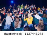 boy wearing virtual glasses...   Shutterstock . vector #1127448293