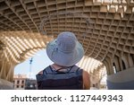 woman in seville  spain  with... | Shutterstock . vector #1127449343