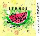 """""""summer sale"""" hand written...   Shutterstock .eps vector #1127456120"""