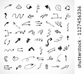 hand drawn arrows  vector set | Shutterstock .eps vector #1127456336