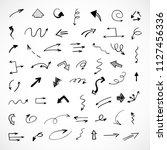 hand drawn arrows  vector set | Shutterstock .eps vector #1127456336