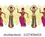 woman dancer in national indian ...   Shutterstock .eps vector #1127456423