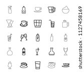 beverage icon. collection of 25 ... | Shutterstock .eps vector #1127458169