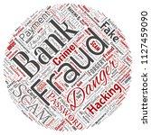 vector conceptual bank fraud... | Shutterstock .eps vector #1127459090