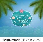 summer sale. vector card. | Shutterstock .eps vector #1127459276