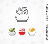 salad icon  vector illustration ... | Shutterstock .eps vector #1127459849