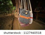 knitting handbag craft | Shutterstock . vector #1127460518