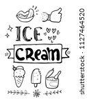 ice cream hand drawn | Shutterstock .eps vector #1127464520