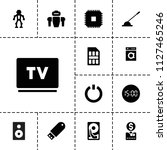electronic icon. collection of... | Shutterstock .eps vector #1127465246