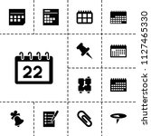 reminder icon. collection of 13 ... | Shutterstock .eps vector #1127465330