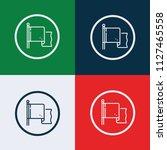 flag icon vector | Shutterstock .eps vector #1127465558
