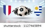 football cup 2018  quarter... | Shutterstock .eps vector #1127465894