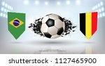 football cup 2018  quarter... | Shutterstock .eps vector #1127465900