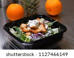fresh salad meal packed in a... | Shutterstock . vector #1127466149