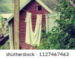 the helleren houses in... | Shutterstock . vector #1127467463