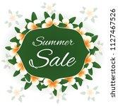 summer sale. vector card. | Shutterstock .eps vector #1127467526