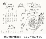 summer ink lettering and... | Shutterstock .eps vector #1127467580