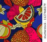 bright tropical seamless... | Shutterstock .eps vector #1127468279