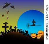 vector halloween background... | Shutterstock .eps vector #112747078