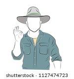 man gesturing ok sign on light...   Shutterstock .eps vector #1127474723