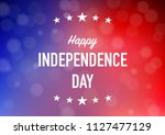 happy independence day with... | Shutterstock .eps vector #1127477129