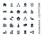structure icon. collection of... | Shutterstock .eps vector #1127477348