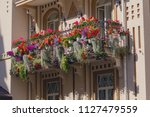 flowers on the balcony of a... | Shutterstock . vector #1127479559