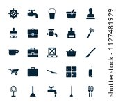 handle icon. collection of 25... | Shutterstock .eps vector #1127481929