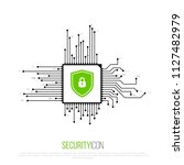 cyber security icon. shield... | Shutterstock .eps vector #1127482979