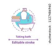 taking bath accessories concept ...   Shutterstock .eps vector #1127486960