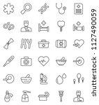 thin line vector icon set  ...   Shutterstock .eps vector #1127490059