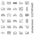 thin line vector icon set  ... | Shutterstock .eps vector #1127491469