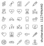 thin line vector icon set  ... | Shutterstock .eps vector #1127496440